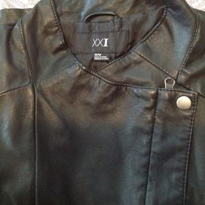EUC Vegan Leather Black Moto Jacket